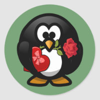 Valentine's Penguin Sticker