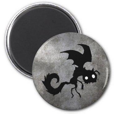 Vampire Cat Silhouette Magnet