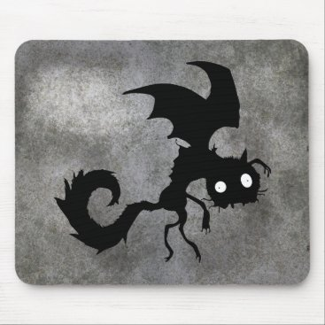Vampire Cat Silhouette Mouse Pad