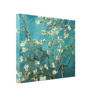 Van Gogh Blossoming Almond Tree Fine Art Stretched Canvas Print