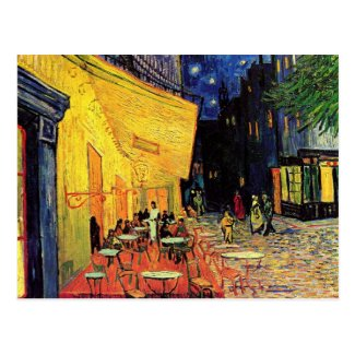 Van Gogh; Cafe Terrace at Night, Vintage Fine Art Postcard
