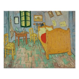 Van Gogh's Bedroom at Arles, 1889 Posters