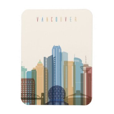 Vancouver, Canada | City Skyline Magnet