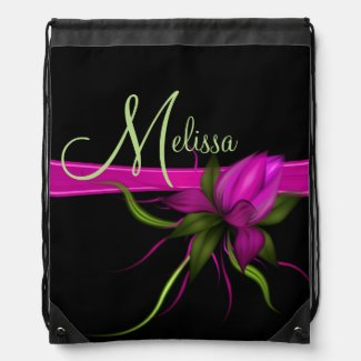 Vector Flower Drawstring Backpack