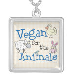 Vegan for the Animals Silver Plated Necklace