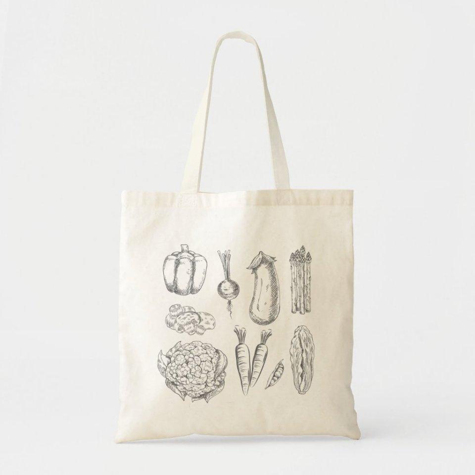 Veggie Tote Bag