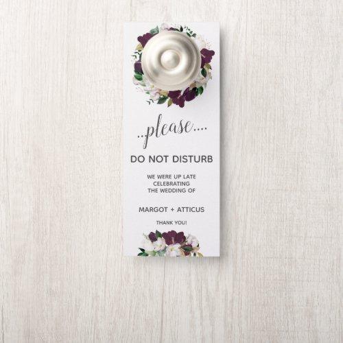 Velvet Magnolia bold  Wedding Guest Do Not Disturb Door Hanger