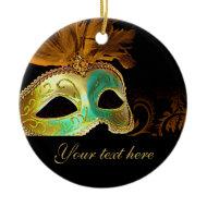 Venetian Masquerade Ornament (copper verdigris 2)