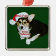 Very Corgi Christmas- Gimli Pup Premium Square Orn Christmas Tree Ornament