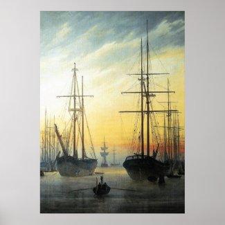 View of a Harbour - Caspar David Friedrich