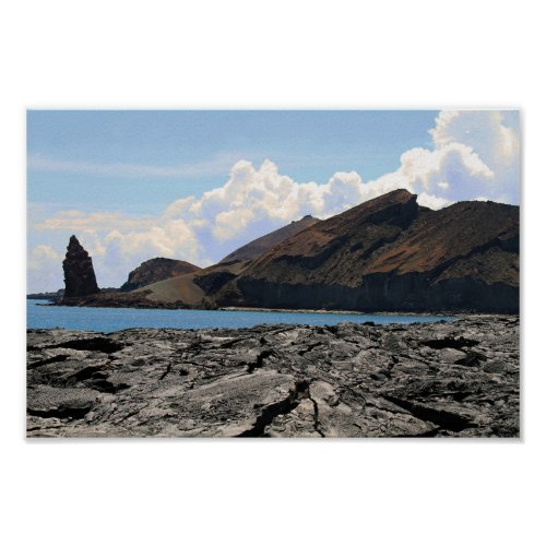 View of Bartolome Island in the Galapagos Islands Poster