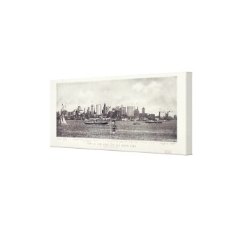 View of New York City and The North River Canvas Print