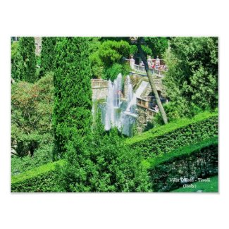 Villa D'Este - Tivoli (Italy) print