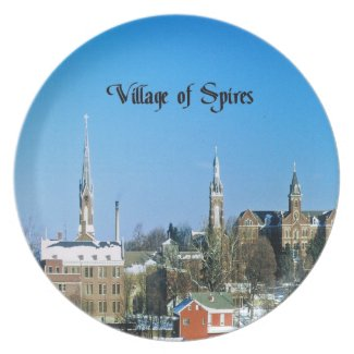 Village of Spires Dinner Plate