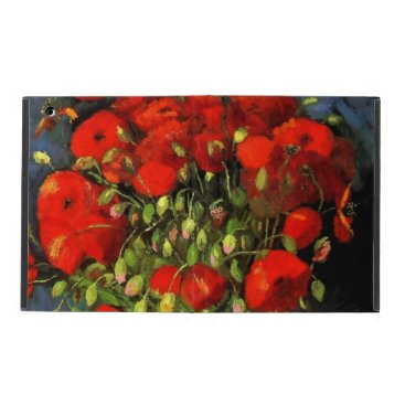 Vincent Van Gogh Vase With Red Poppies Floral Art iPad Case