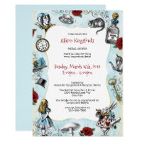 Vintage Alice in Wonderland Bridal Shower Card