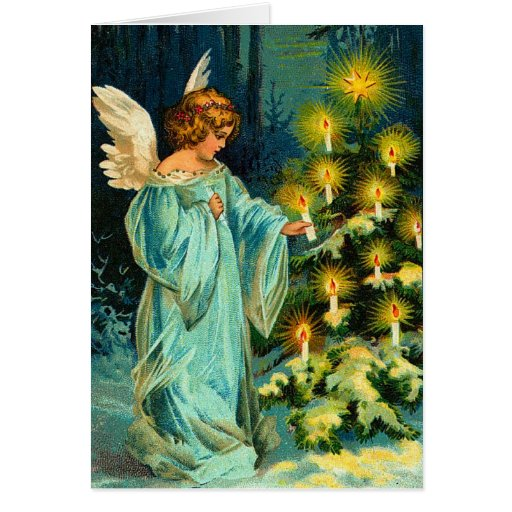 Vintage Angel Christmas Card Zazzle