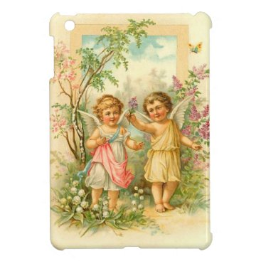 Vintage Angels in the Garden Case For The iPad Mini