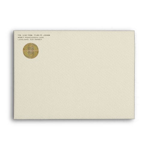 Vintage Art Nouveau Vineyard Peacock Envelopes envelope