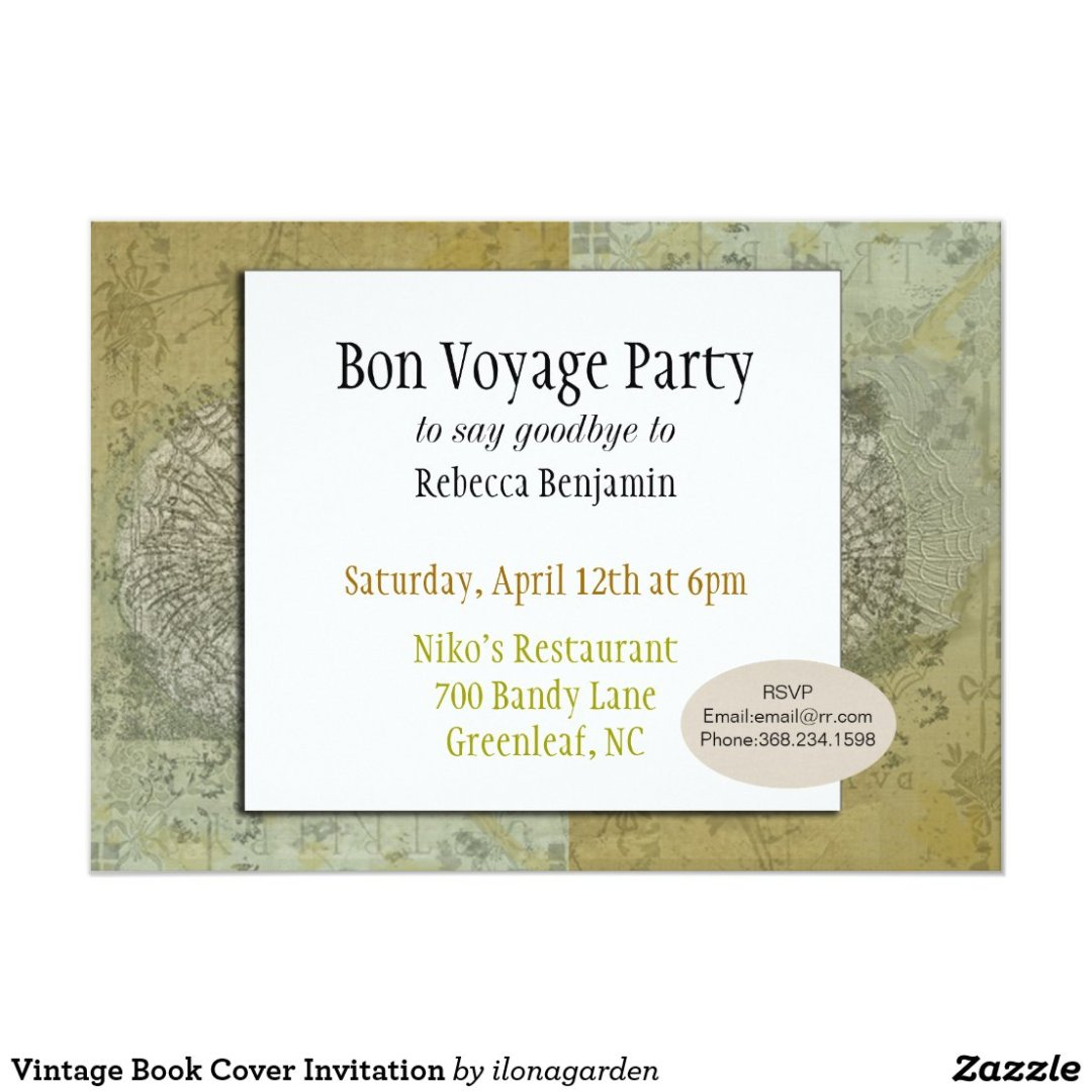 Vintage Book Cover Invitation