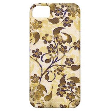 Vintage Brown Gold Floral Case-Mate iPhone 5