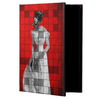 Vintage Camera Woman Red Grunge iPad Air Case