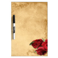Vintage Caramel Brown & Rose Dry Erase Whiteboards