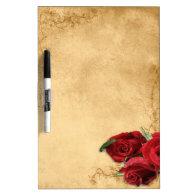Vintage Caramel Brown & Rose Dry Erase Whiteboards