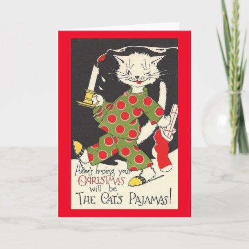 Vintage Cat's Pajamas Christmas Card