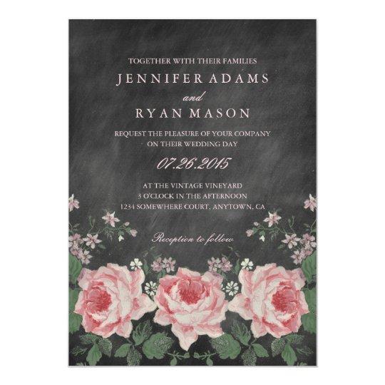 Drink And Celebrate Chalkboard Wedding Invitation Diy Printable Or Printed Invitations
