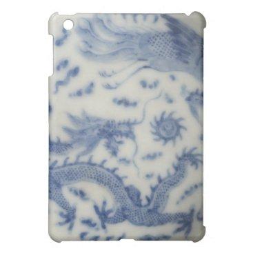 Vintage chinese dragon monaco blue chinoiserie iPad mini case