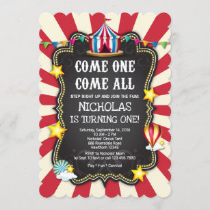 circus theme invitations zazzle