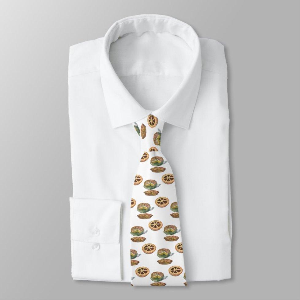 Vintage Desserts Pies Pecan Pumpkin Lemon Meringue Neck Tie