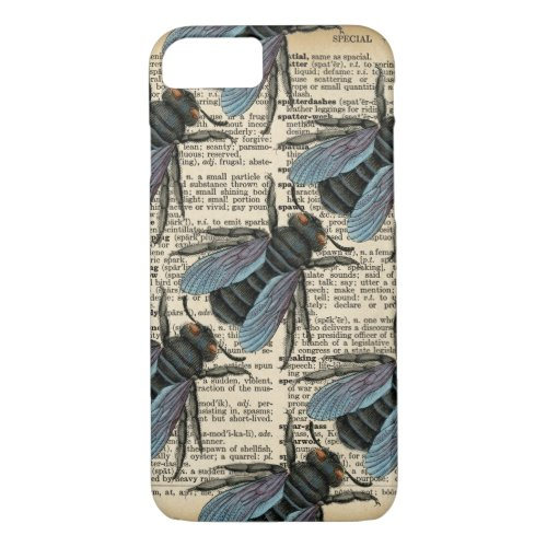 Vintage Dictionary Bug Phone iPhone 8/7 Case