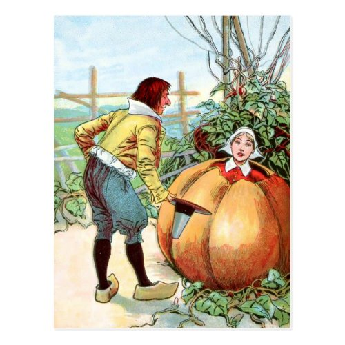 Vintage Drawing: Peter Pumpkin Eater Postcard