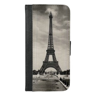 Vintage Eiffel Tower Paris iPhone 6/6S Plus Wallet Case