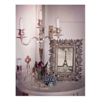 Vintage Eiffel Tower Photo Frame Postcard