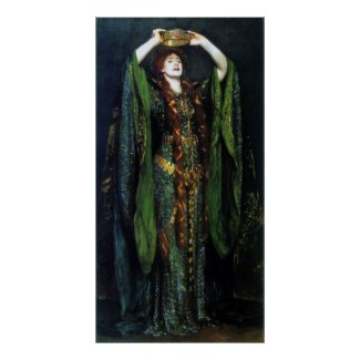 Vintage Ellen Terry as Lady Macbeth Print print