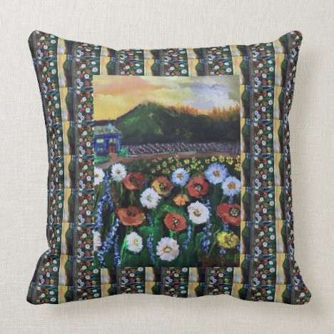 Vintage Fine Folk Art Field of Flowers Pattern