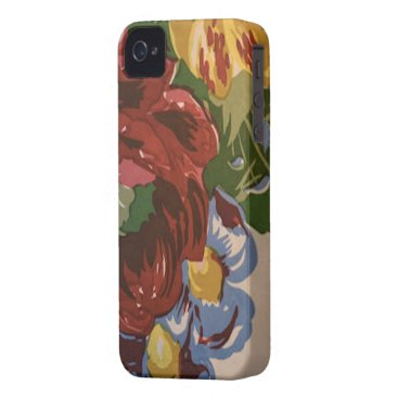 Vintage Floral Fabric Pattern iPhone Case