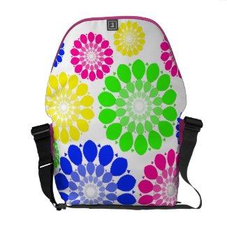 Vintage floral pattern commuter bags