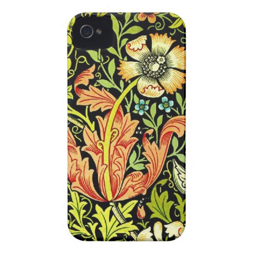 Vintage floral pattern iphone 4 cases casemate_case