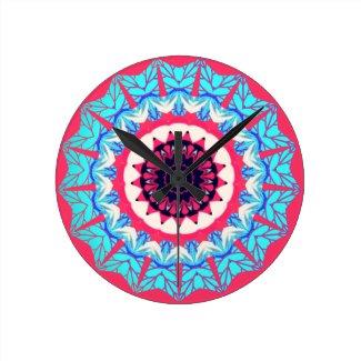 Vintage floral pattern wall clocks