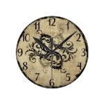 Vintage Flourish Wall Clock