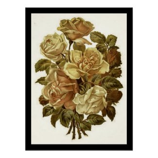 Vintage Flowers High Quality Print