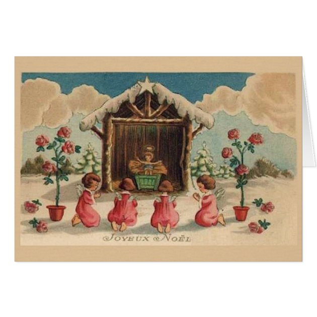 Vintage French Joyeux Noel Christmas Card Zazzle
