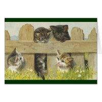 Vintage - Friendship of Cats Card