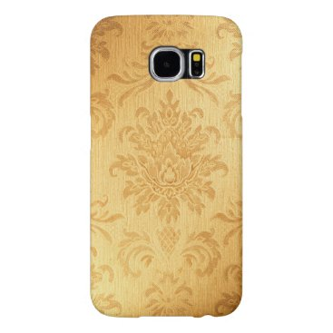 Vintage Gold Damask Pattern Samsung Galaxy S6 Case