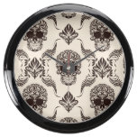 vintage,halloween,skull,damask,pattern,chic,grunge aquarium clocks