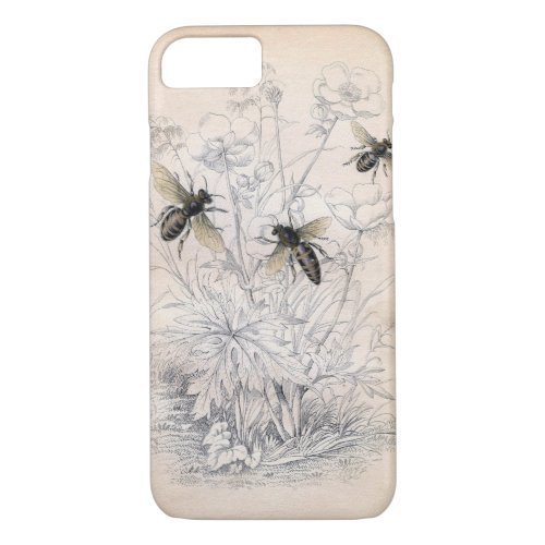 Vintage Honey Bee Art iPhone 8/7 Case